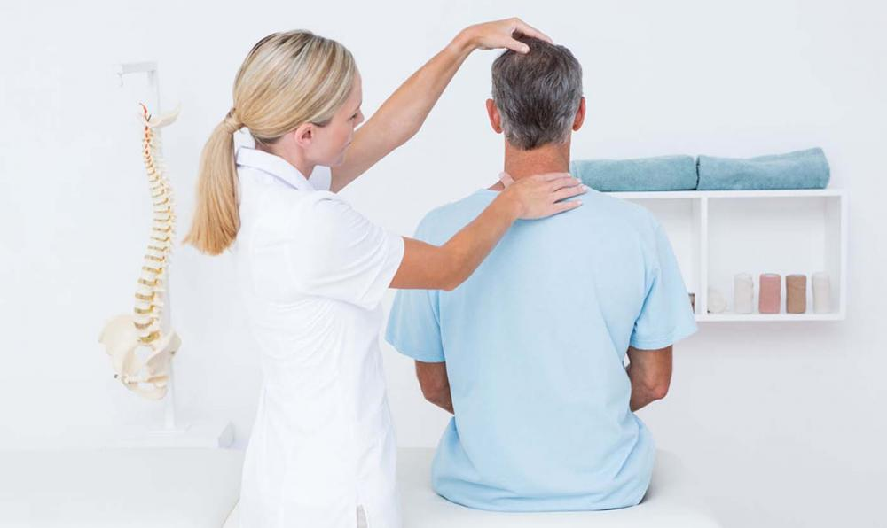 Man getting tested for Radiculopathy.